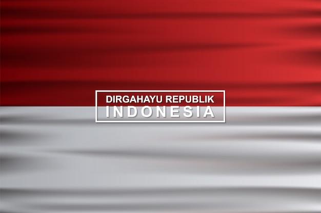Illustration de fond de drapeau indonésien