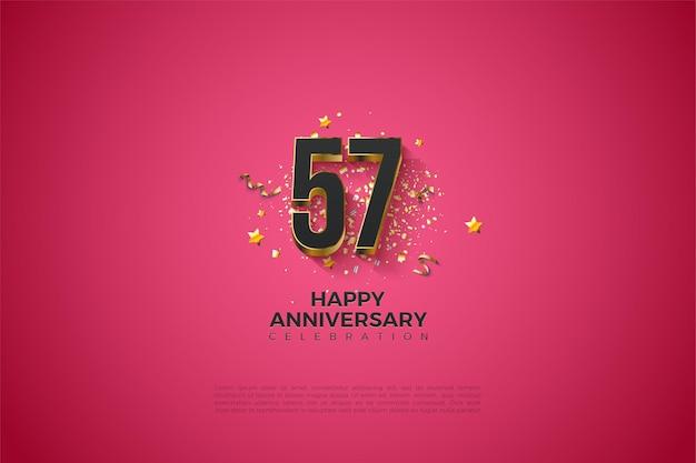 Illustration de fond du 57e anniversaire