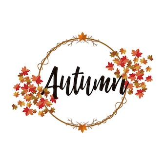 Illustration de fond des feuilles d'automne.