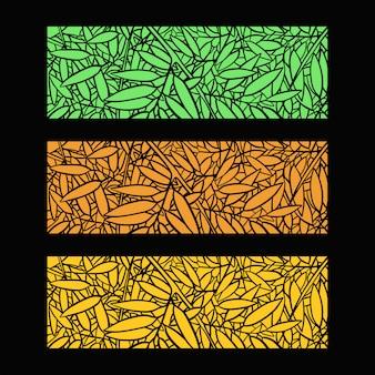 Illustration de fond de feuilles de bambou