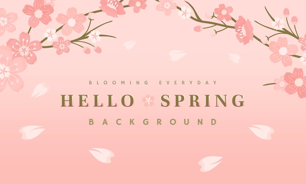 Illustration de fond de fleurs de cerisier