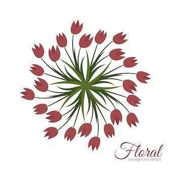 Illustration de fond de fleurs