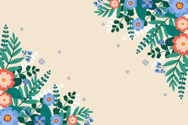 Illustration de fond floral plat