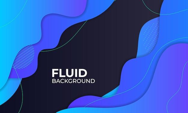 Illustration de fond fluide bleu
