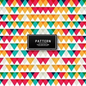 Illustration de fond géométrique motif coloré