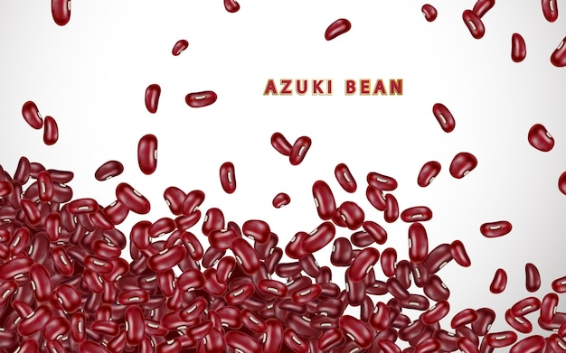Illustration de fond de haricots azuki