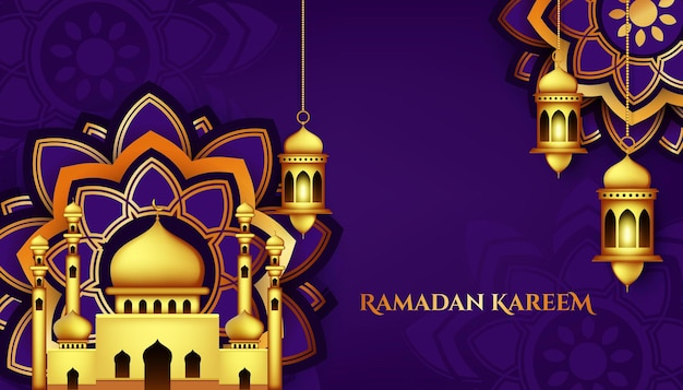 Illustration de fond islamique moderne ramadan et eid mubarak