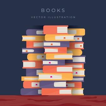Illustration de fond de livres
