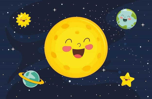 Illustration de fond de lune