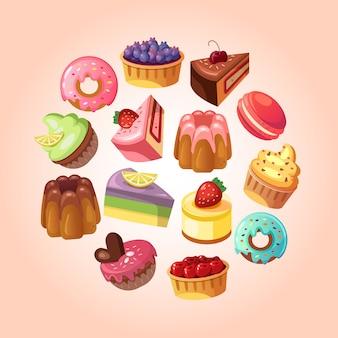 Illustration de fond de magasin de bonbons