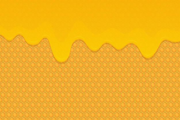Illustration de fond de miel