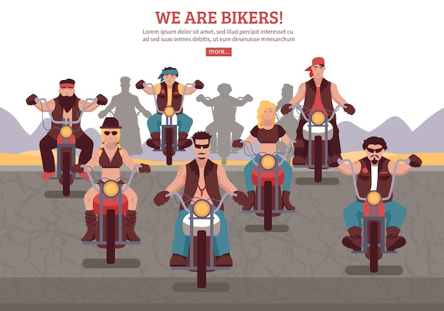 Illustration de fond de motards