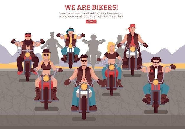 Illustration de fond de motards