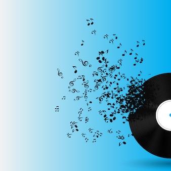 Illustration de fond de musique abstraite pour votre conception