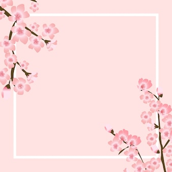 Illustration de fond naturel japonais abstrait fleur sakura floral