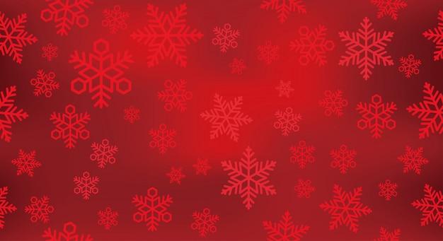 Illustration de fond de neige festive sans soudure.