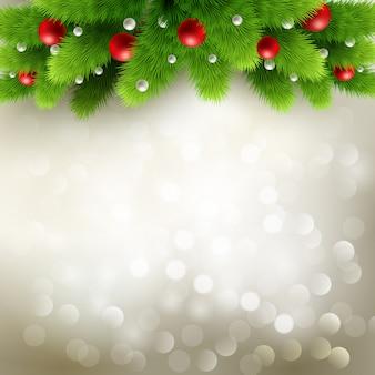 Illustration De Fond De Noël. Vecteur Premium