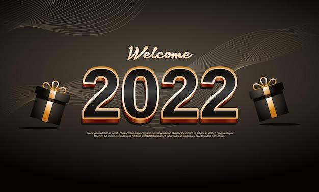 Illustration de fond de nouvel an 2022