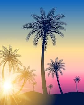 Illustration de fond de palmiers