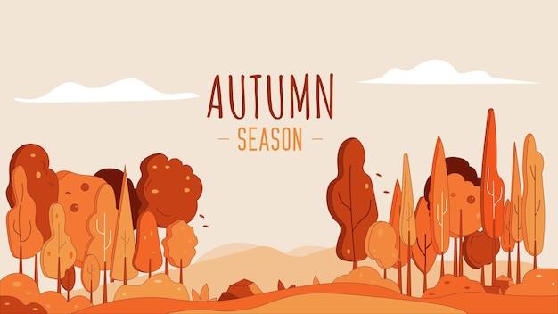 Illustration de fond de paysage de saison d'automne