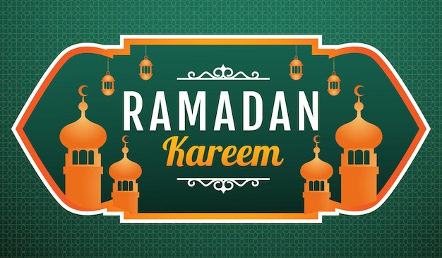 Illustration de fond ramadan kareem