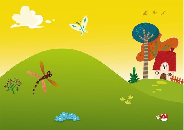 Illustration de fond vecteur thème printemps