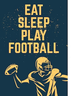 Illustration de football avec citation de motivation