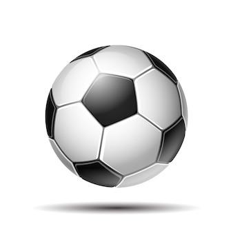 Illustration de football en cuir blanc et noir