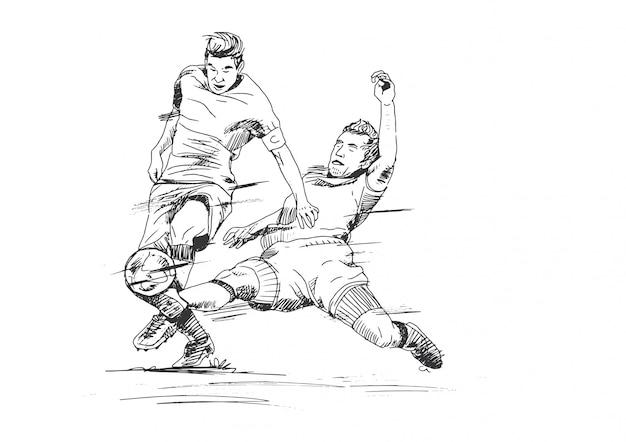 Illustration de football de dessin à la main