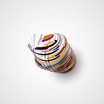 Illustration de forme abstraite futuriste