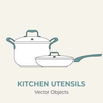 Illustration de forme simple de casserole de casserole de casserole de casserole
