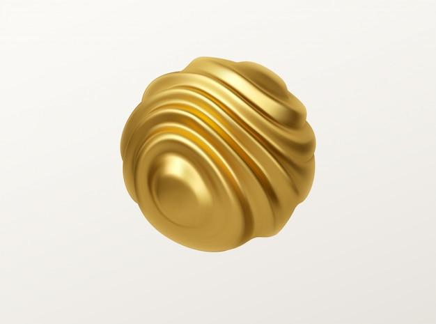 Illustration de forme de sphère ondulée