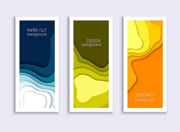 Illustration de formes découpées en papier coloré