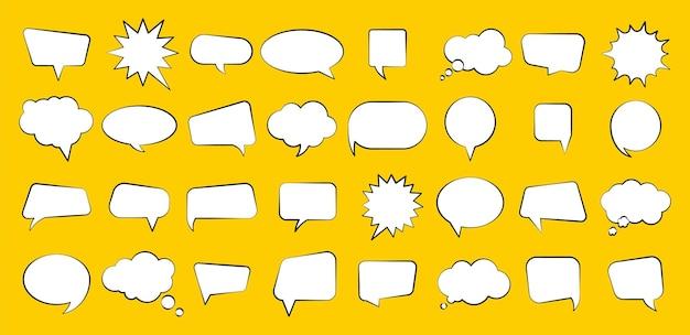 Illustration de formes différentes de bulles comiques vides