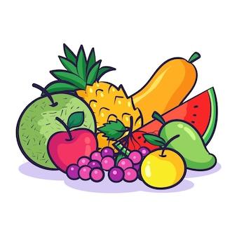 Illustration de fruits frais
