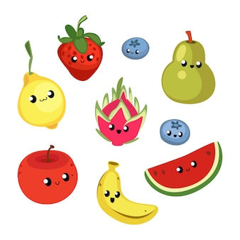 Illustration de fruits mignons