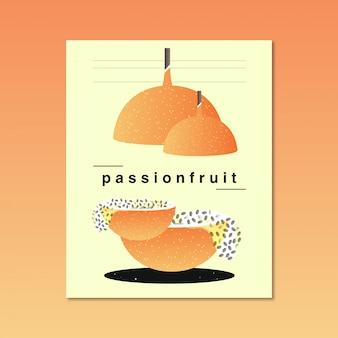 Illustration de fruits de la passion abstrait