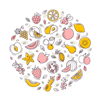 Illustration de fruits de vecteur