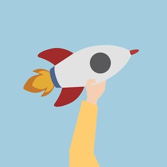 Illustration d'une fusée de lancement