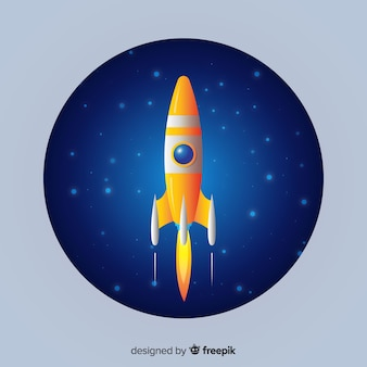 Illustration de fusée plat dégradé