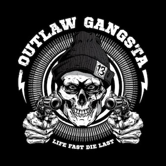 Illustration de gangsta crâne