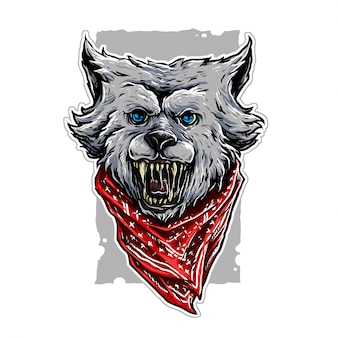 Illustration de gangster wolf