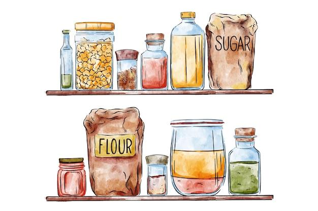 Illustration de garde-manger dessiné à la main