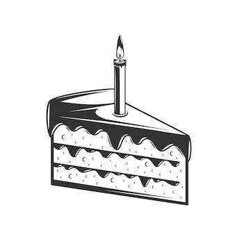 Illustration de gâteau à la main