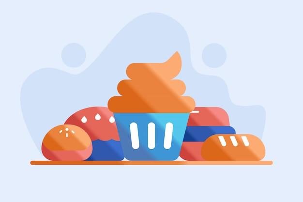 Illustration de gâteau