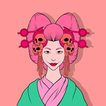 Illustration de geisha tueur