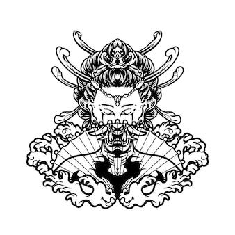 Illustration de geisha
