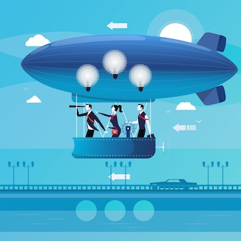 Illustration des gens d'affaires ayant de nouvelles idées