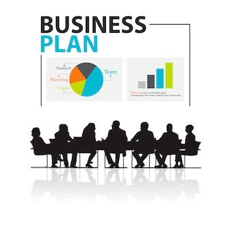 Illustration de gens d'affaires lors de la réunion
