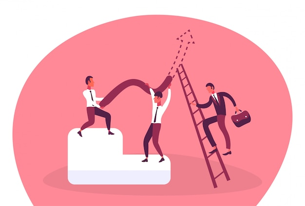 Illustration de gens d'affaires travaillant ensemble